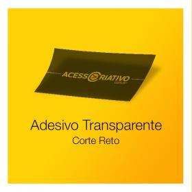 Adesivo Transparente Vinil Transparente  4x0  Corte Reto