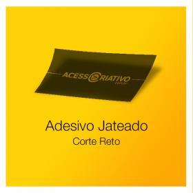 Adesivo Jateado Vinil Jateado  4x0  Corte Reto